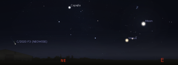 Venus and the comet in the morning
