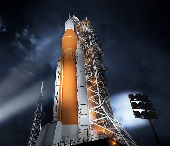 Block 1 Space Launch System with Orion Capsule