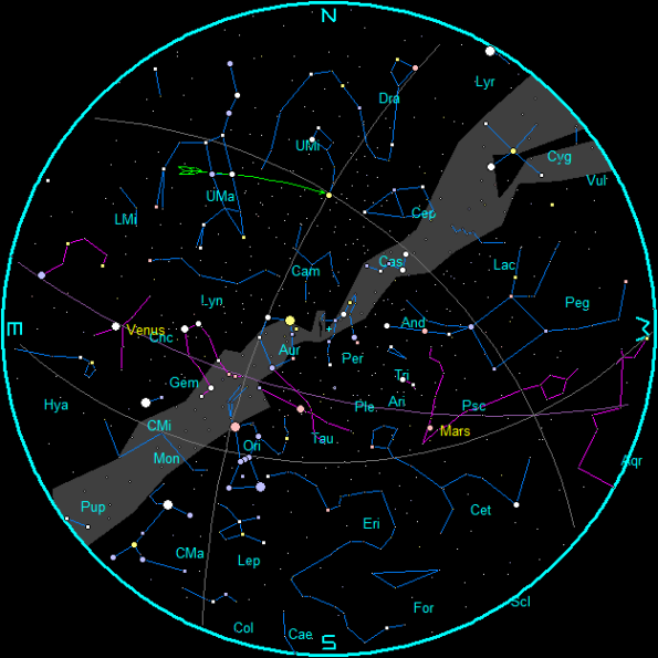 September 2020 Morning Star Chart