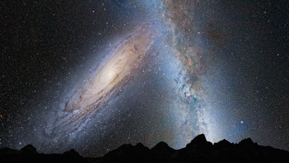 View from Earth-Andromeda collision