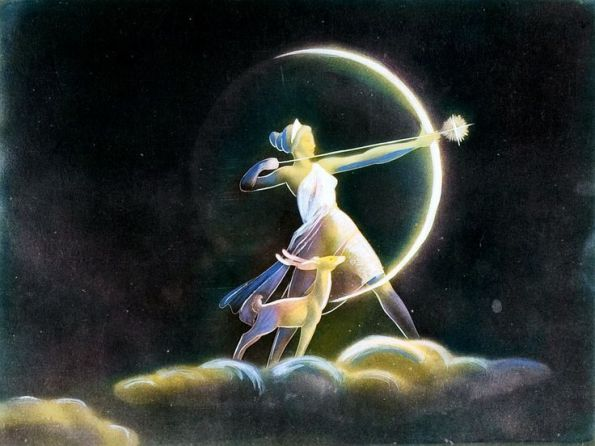 Artemis, goddess of the hunt and the Moon.