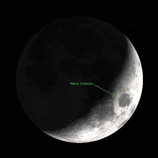 Crescent Moon-Mare Crisium