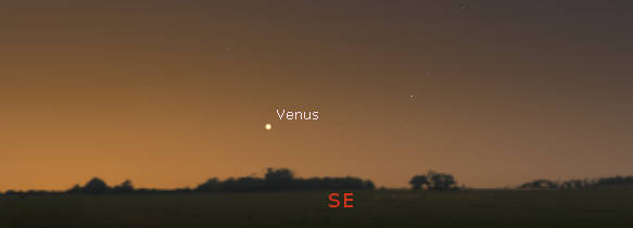 Venus in the SE at 7:30 am