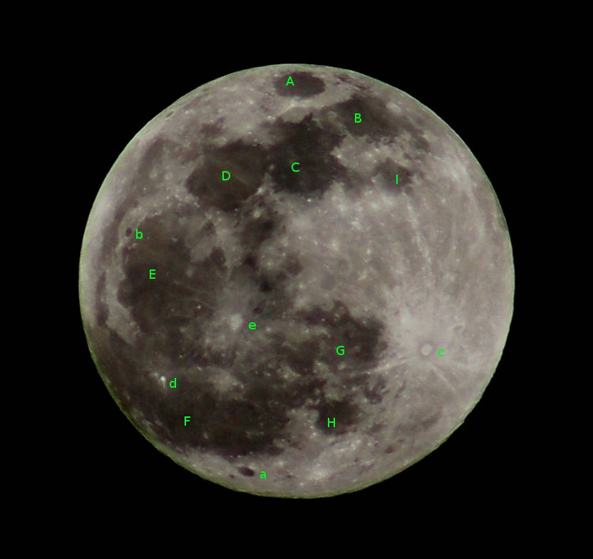 Annotated full Moon