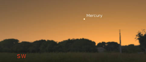 Mercury in evening twilight