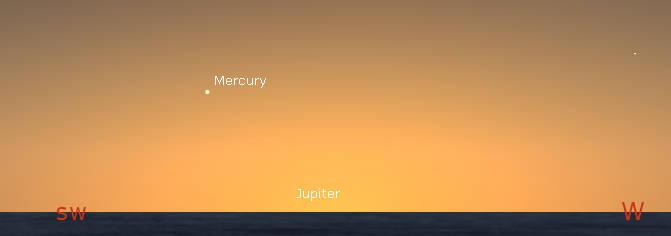 Mercury in the evening twilight