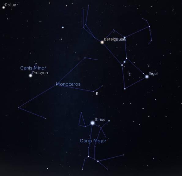 Monoceros finder chart