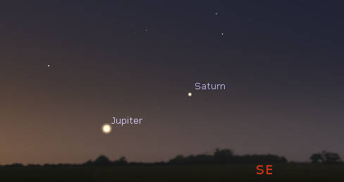 Jupiter and Saturn tomorrow morning