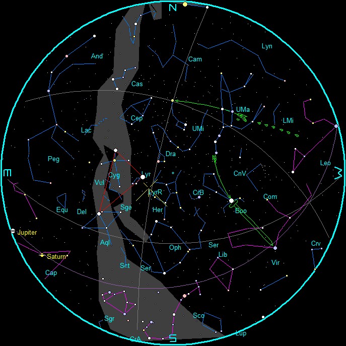 April morning star chart