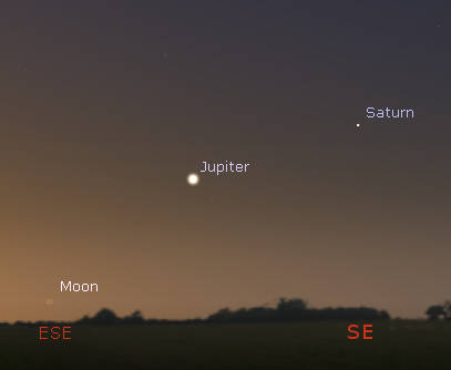Jupiter and Saturn in the morning sky