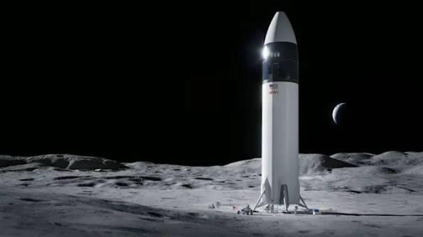 SpaceX Concept lunar Lander as of 04/16/2021
