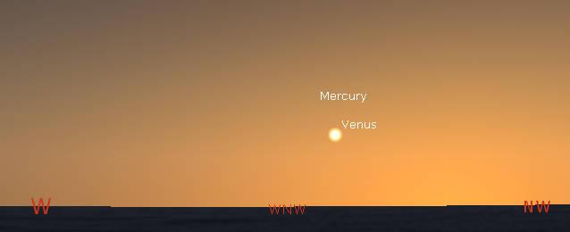 Venus in the evening
