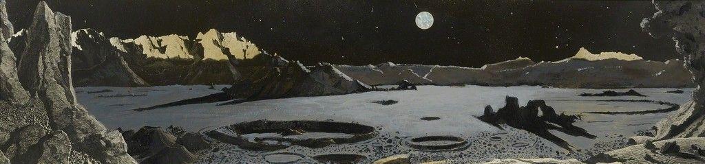 Chesley Bonestell moonscape