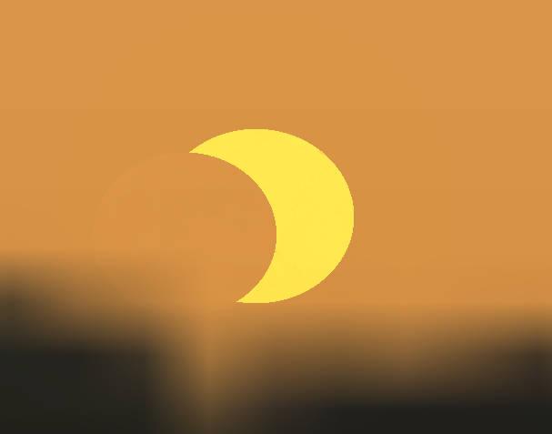 Eclipsed Sun rising