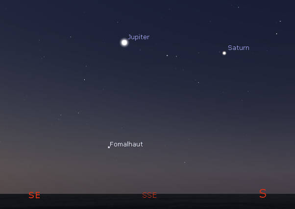Jupiter and Saturn in the morning
