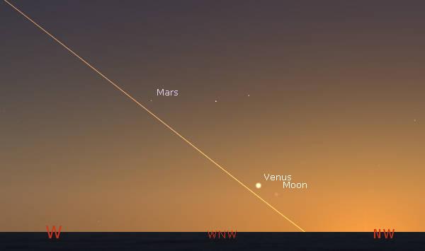 Sunset ecliptic June 11, 2021