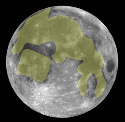 The Jade Rabbit seen on a full moon
