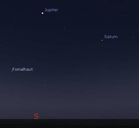 Jupiter and Saturn at 5 am