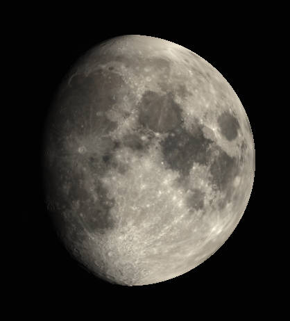 The Moon as it might appear tonight