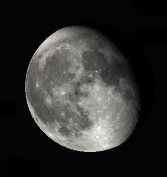 Binocular Moon tonight