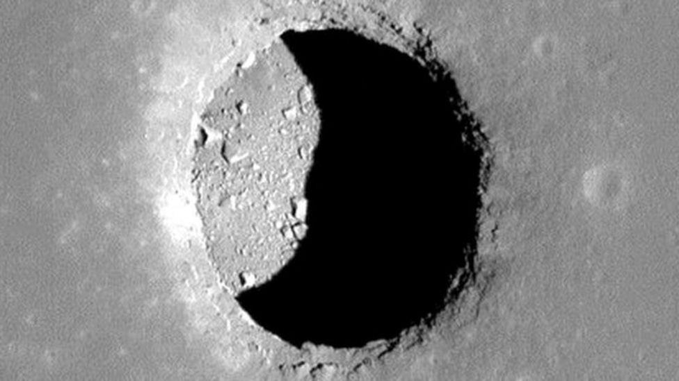 Lunar lava tube skylight
