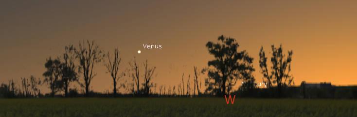Venus in evening twilight tonight