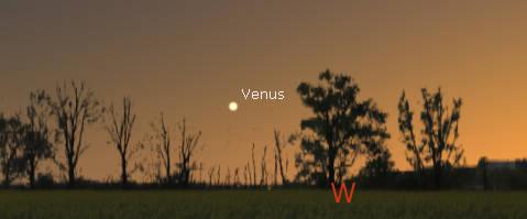 Venus in the west