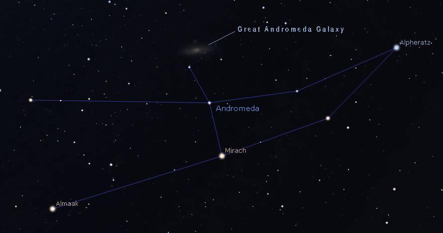 Andromeda Galaxy finder chart