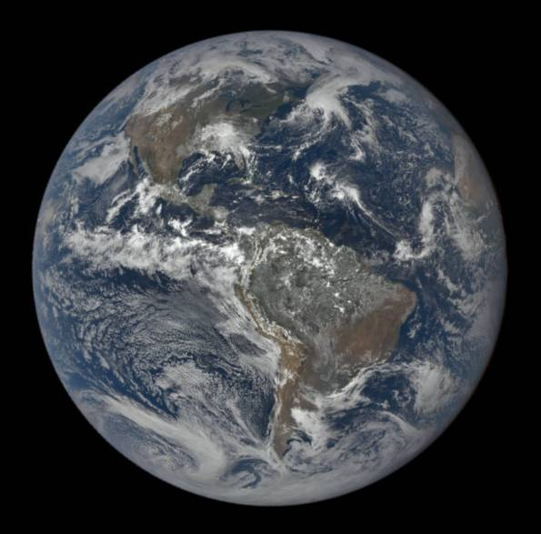 Earth 3 days before autumnal equinox