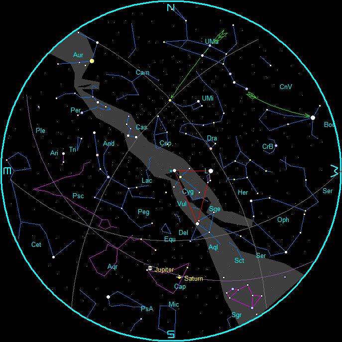 Star Chart October