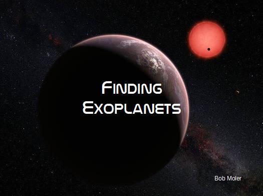 Finding Exoplanets title slide