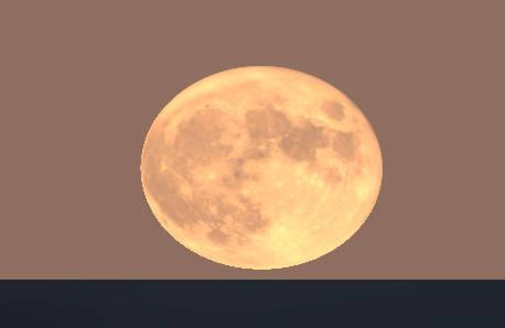 Full Hunters Moon rising