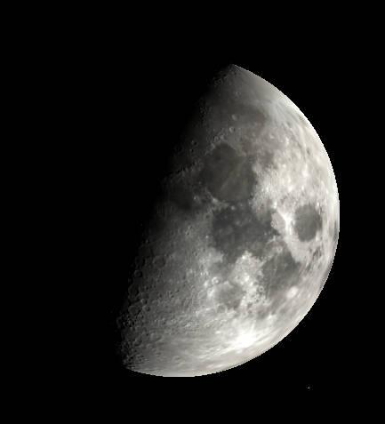 Slight gibbous Moon as it might appear tonight